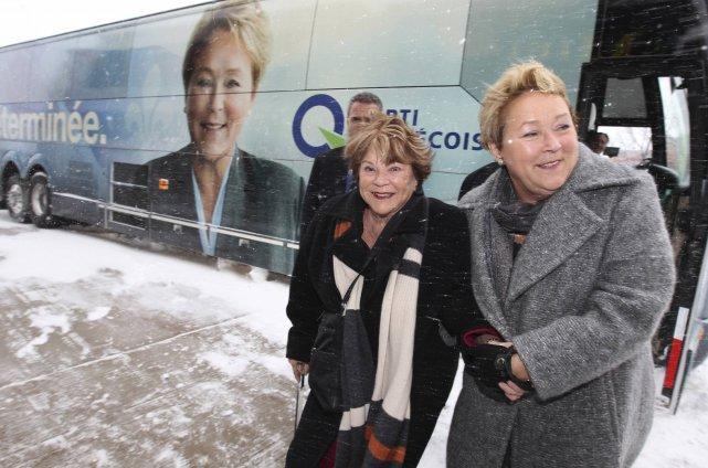 Janette Bertrand et Pauline Marois.... (Photo Christinne Muschi, Reuters)