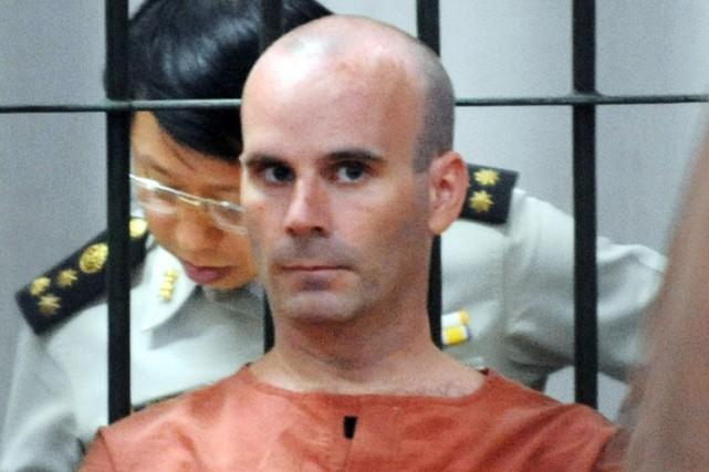 Christopher Neil dans une prison à Bangkopk en... (Archives AFP)