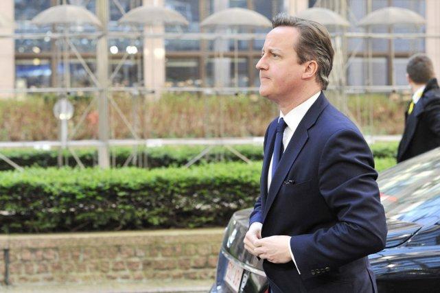 Le premier ministre britannique David Cameron.... (PHOTO GEORGES GOBET, AFP)