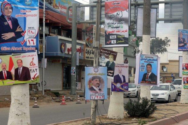 Bien que la campagne n'ait officiellement débuté que... (Photo MARWAN IBRAHIM, AFP)