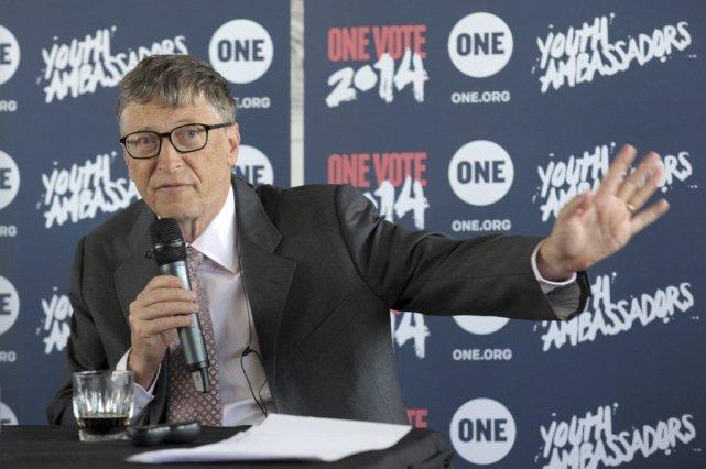 Bill Gates a lancé mardi, à Paris, le... (PHOTO ERIC PIERMONT, AFP)