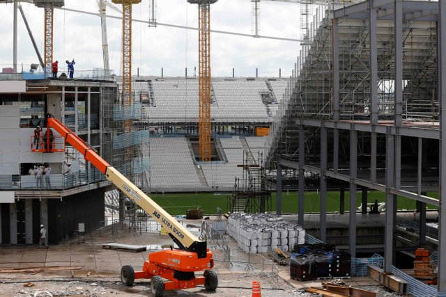 Le stade de Sao Paulo doit accueillir le... (Photo Paulo Whitaker, Reuters)