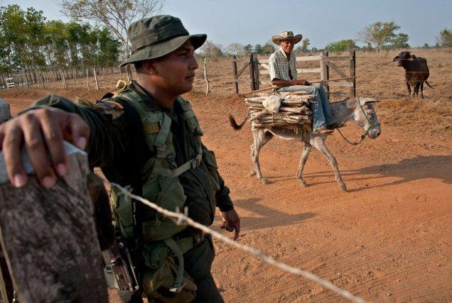 De nombreux paysans colombiens ont été spoliés de... (Photo GUILLERMO LEGARIA, AFP)