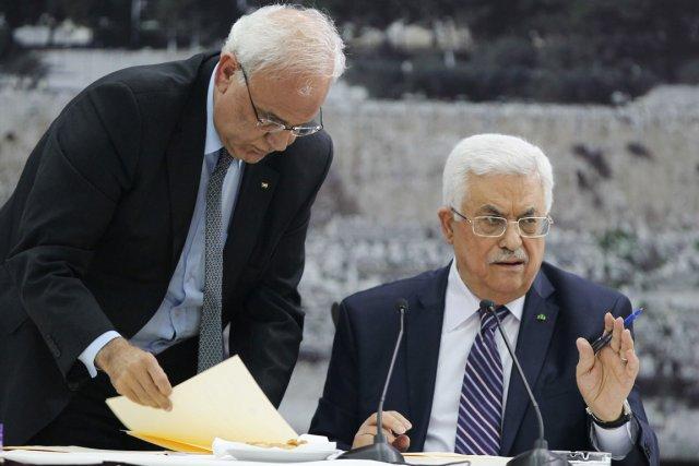 «La direction palestinienne a approuvé à l'unanimité la... (PHOTO ABBAS MOMANI, AFP)