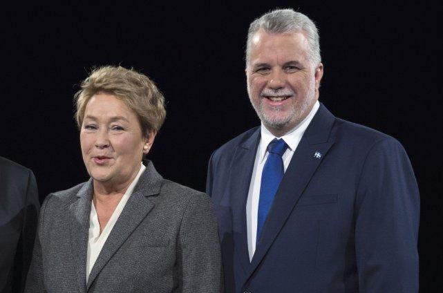 Les chefs du PQ, Pauline Marois, et du... (Archives La Presse Canadienne)
