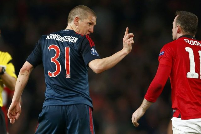 Bastian Schweinsteiger a marqué à la 67e minute en réplique au but inscrit par... (Photo: Reuters)