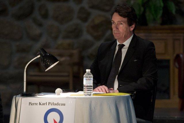 Pierre-Karl Péladeau lors du débat de lundi àSaint-Jérôme.... (Photo: PC)