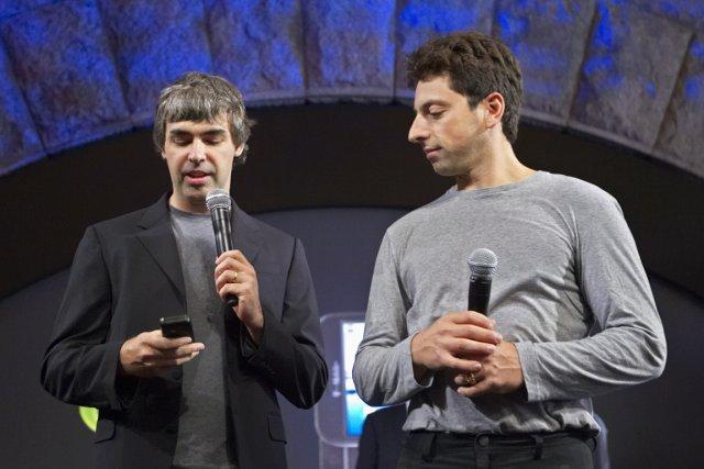 Les fondateurs deGoogle, Larry Page et Sergey Brin,... (PHOTO ARCHIVES REUTERS)