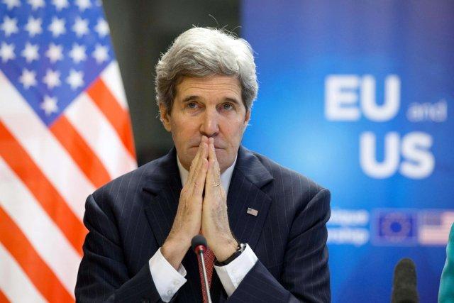 Le secrétaire d'État américain John Kerry.... (PHOTO JACQUELYN MARTIN, REUTERS)
