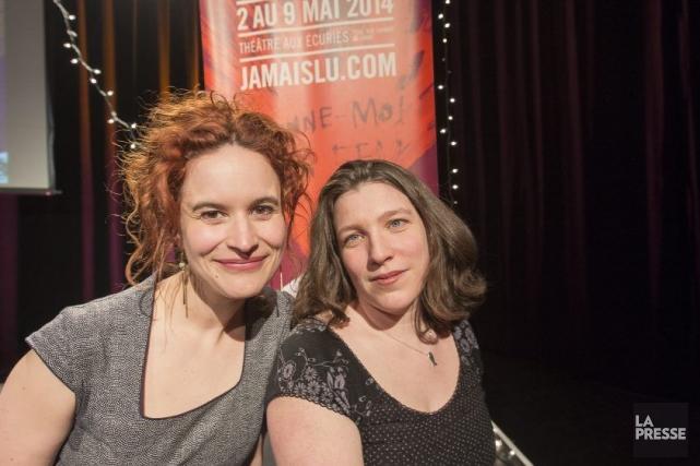 Les codirectrices du Festival du Jamais lu, Marcelle... (Photo: Olivier Pontbriand, La Presse)