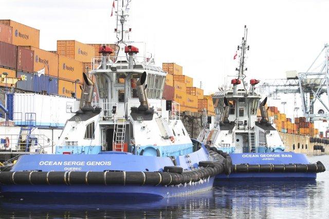 Deux remorqueurs de 25 mètres de l'entreprise québécoise... (PHOTO STÉPHANE CHAMPAGNE, COLLABORATION SPÉCIALE)