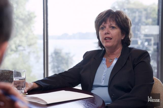 Sylvie Vachon, présidente-directrice générale de l'Administration portuaire de... (PHOTO FOURNIE PAR APM)