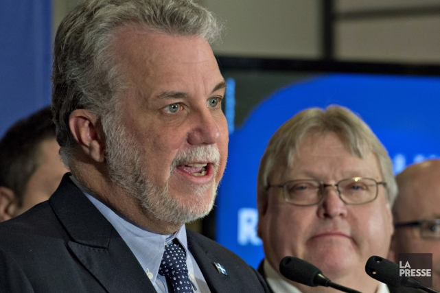 Philippe Couillard et Gaétan Barrette.... (Photo archives La Presse Canadienne)
