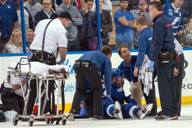 Le défenseur du Lightning Michael Kostka est resté... (Photo Jeff Griffith, USA Today)