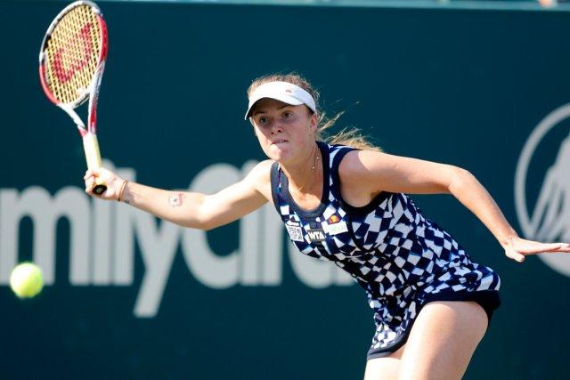 L'Ukrainienne Elina Svitolina avait battu Eugenie Bouchard au... (Photo Mic Smith, AP)