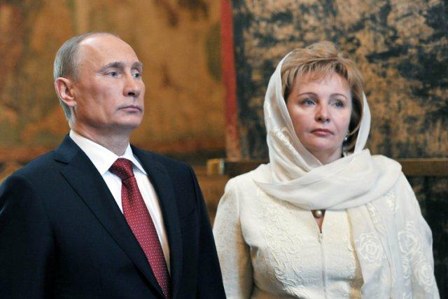 Vladimir Poutine et Lioudmila en 2012.... (Photo: AFP)