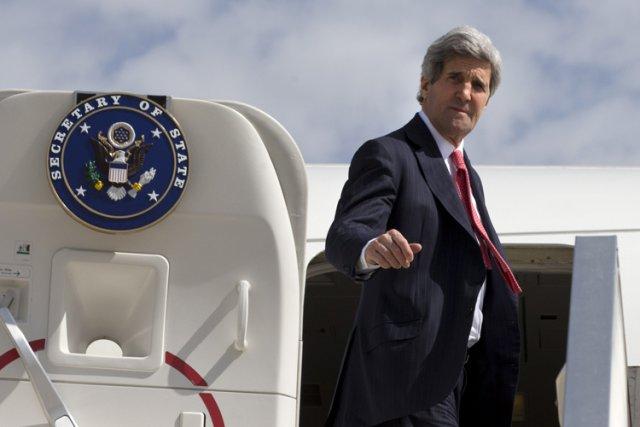 John Kerry, le parrain desnégociations de paix.... (Photo: AFP)