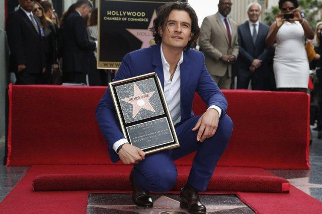 L'acteur britannique Orlando Bloom a reçu mercredi la 2521e étoile sur le... (Photo: Reuters)
