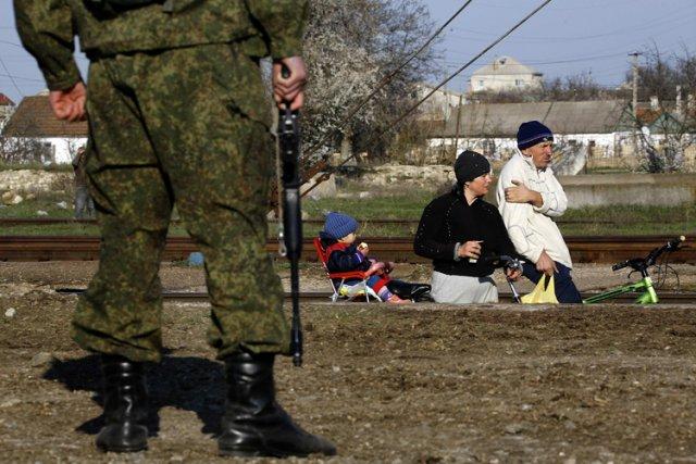 L'OTAN a dénoncé mercredi comme «incroyablement inquiétante» la présence... (Photo: Reuters)