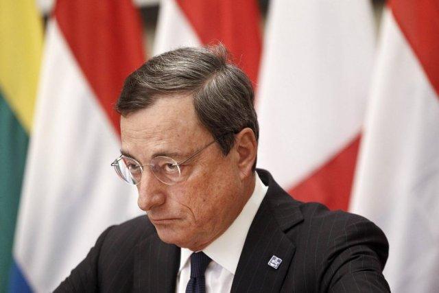 MarioDraghi, président de laBanque centrale européenne (BCE).... (PHOTO ALKIS KONSTANTINIDIS, REUTERS)