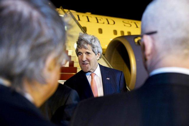Les négociateurs palestiniens, israéliens et américains ont fait... (PHOTO JACQUELYN MARTIN, REUTERS)
