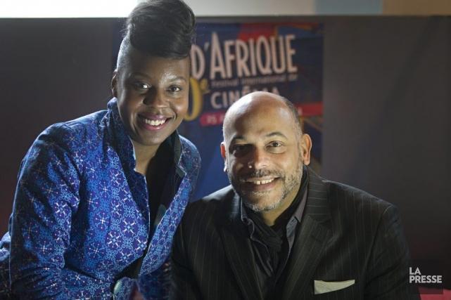 L'humoriste Dorothy Rhau et l'animateur Philippe Fehmiu sont... (Photo: Ivanoh Demers, La Presse)