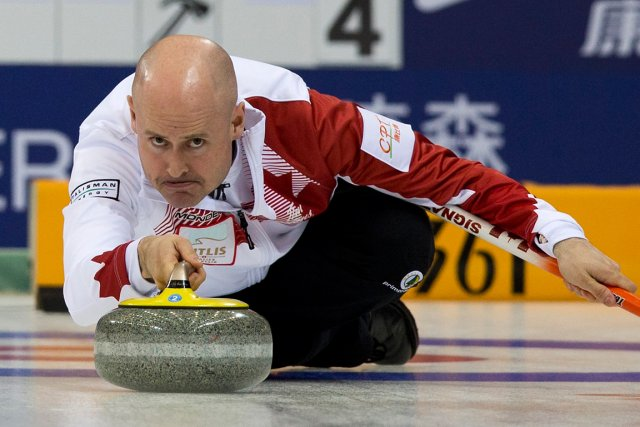 Kevin Koe... (Photo Andy Wong, AP)
