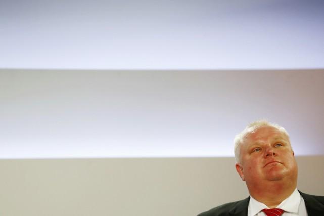 Le maire Rob Ford, à Toronto, le 26... (PHOTO MARK BLINCH, ARCHIVES REUTERS)