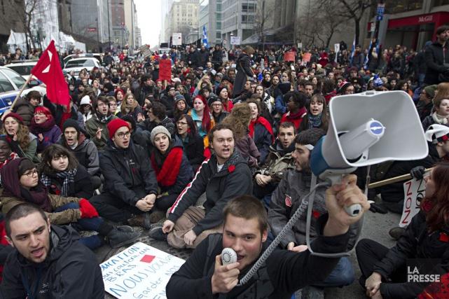 La crise étudiante de 2012 a créé une... (Archives La Presse)