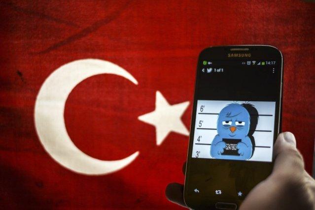 L'accès au réseau Twitter avait été bloqué en... (PHOTO OZAN KOSE, AFP)