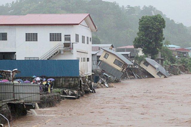 Des quartiers entiers ont été dévastés jeudi soir,... (PHOTO AFP/VISION MONDIALE)