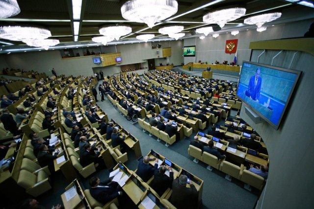 Les députés russes ont voté vendredi en première lecture une loi contre la... (Photo Alexander Zemlianichenko, archives AFP)