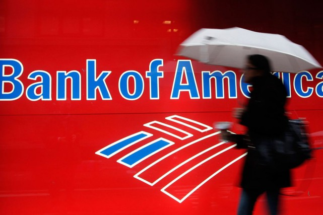Bank of America (BA) a encore réduit son exposition à la... (Photo Mark Lennihan, AP)