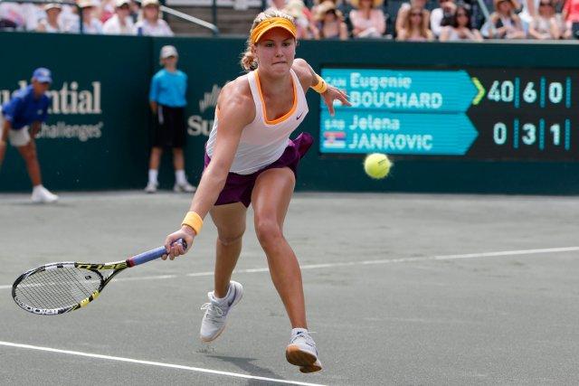 Eugenie Bouchard a défait la huitième joueuse mondiale... (Photo Mic Smith, AP)