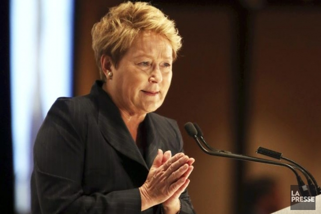Pauline Marois pendant la campagne électorale qui s'est... (Photo Martin Chamberland, La Presse)