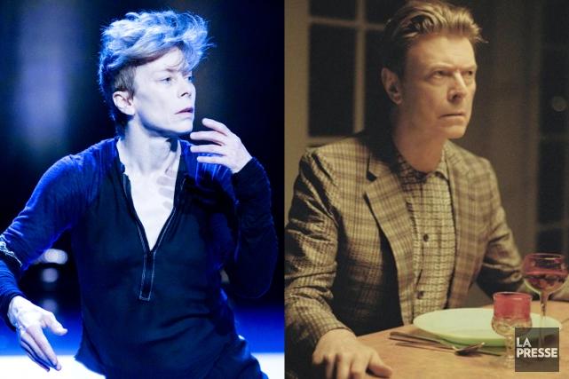 Louise Lecavalier et David Bowie... (PHOTOMONTAGE LA PRESSE)