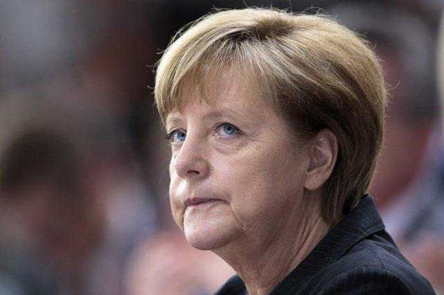 La chancelière allemande Angela Merkel.... (Photo Markus Schreiber, AP)