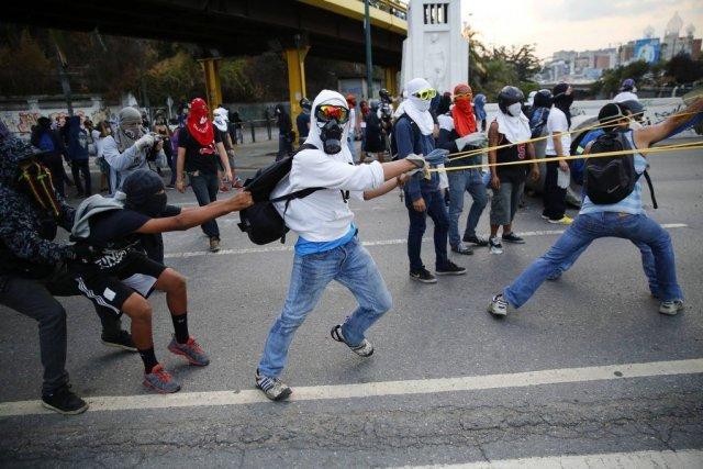 Depuis le 4 février,le Venezuela est le théâtre... (PHOTO JORGE SILVA, REUTERS)