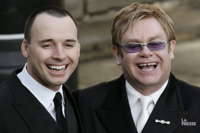 David Furnish et Elton John... (Photo: archives La Presse)