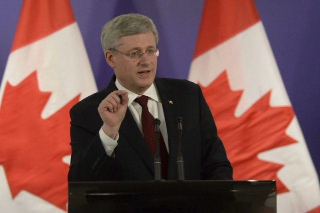 Le premier ministre canadien, Stephen Harper.... (Photo La Presse Canadienne)