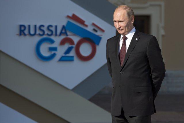 Le président de la Russie, Vladimir Poutine, attendant... (Photo: PC)