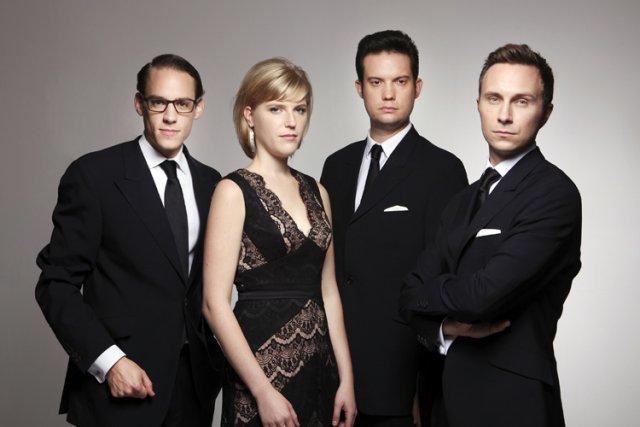 Le jeune Quatuor Doric, de Grande-Bretagne....