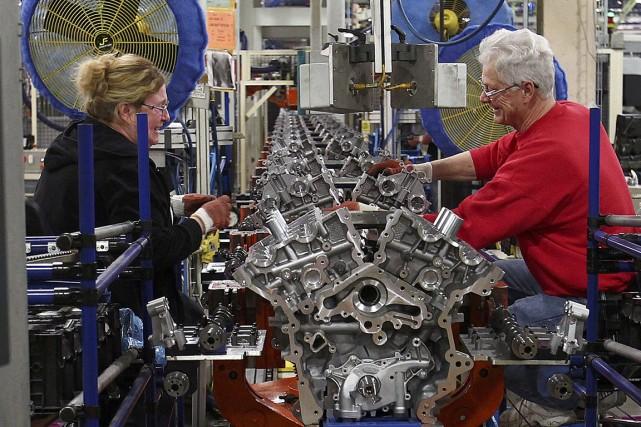 La production industrielle aux États-Uniss'est repliée de 0,6%... (PHOTO AARON JOSEFCZYK, REUTERS)