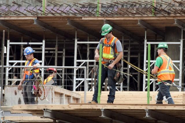 Les dépenses en construction ont légèrement grimpé en avril aux États-Unis,... (PHOTO Ryan Remiorz, ARCHIVES LA PRESSE CANADIENNE)