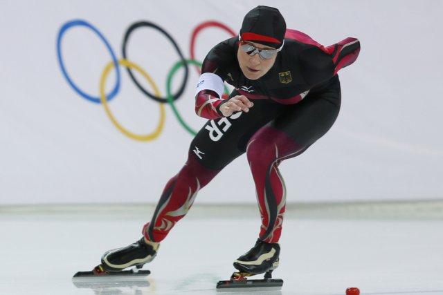 Claudia Pechstein... (Photo Adrian Dennis, AFP)