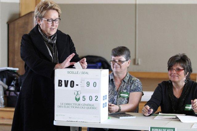 La chef du Parti québécois, Pauline Marois.... (Photo Christinne Muschi, Reuters)
