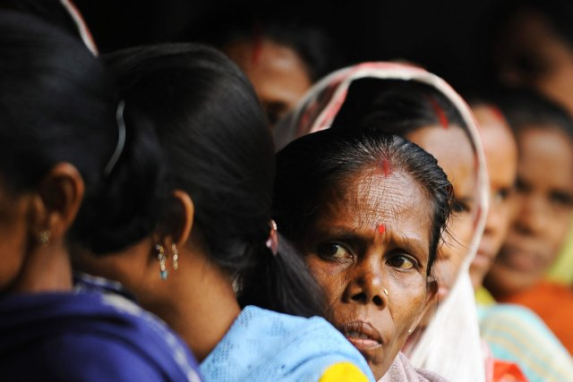 Quelque 814 millions d'électeurs indiens sont appelés à... (PHOTO DIBYANGSHU SARKAR, AFP)