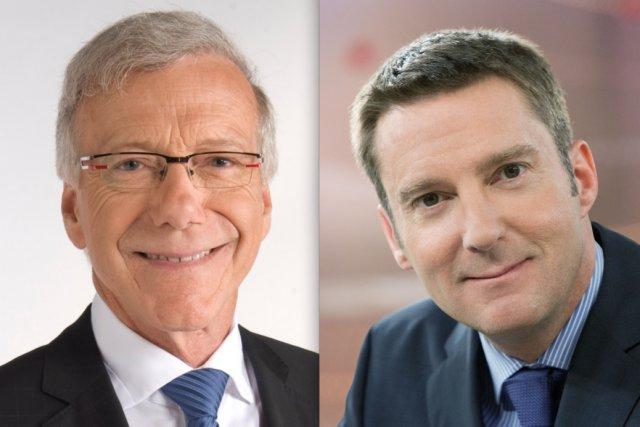 Suivez la soirée électorale avec Pierre Bruneau à... (Photo: TVA/ICI Radio-Canada Télé)