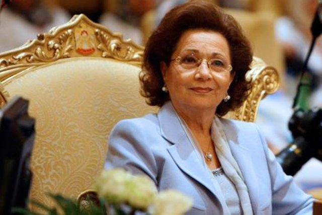 Suzanne Moubarak, photographiée en 2008.... (PHOTO ARCHIVES AFP)