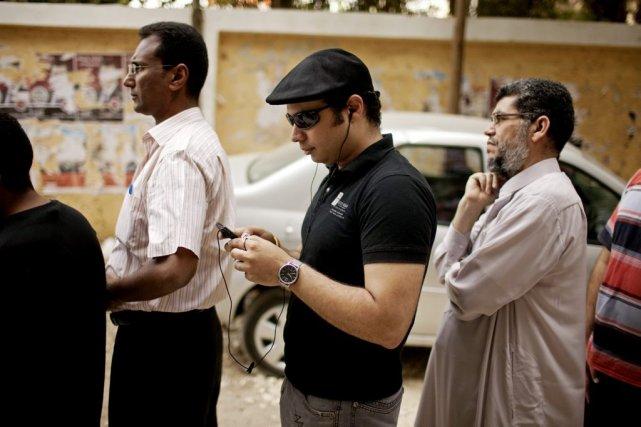 Ahmed Maher, fondateur du mouvement du 6-Avril, fer... (Photo archives Associated Press)